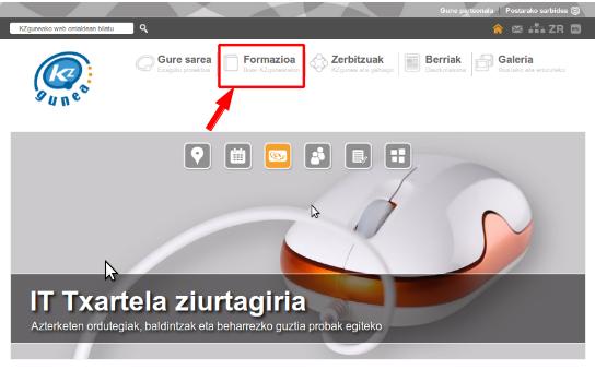 kzgunea online formakuntza