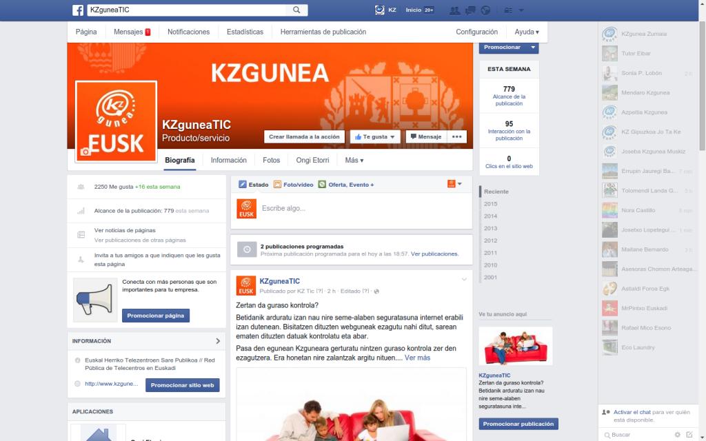 Kzgunea sare sozialak facebook