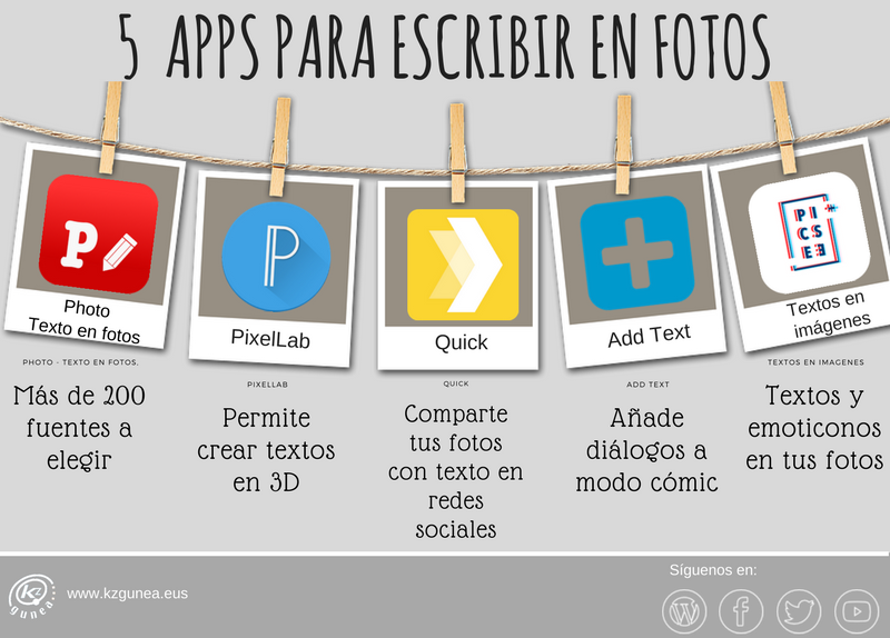Las mejores aplicaciones para poner texto en las fotos