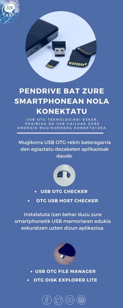 Pendrive bat zure smartphonean nola konektatu