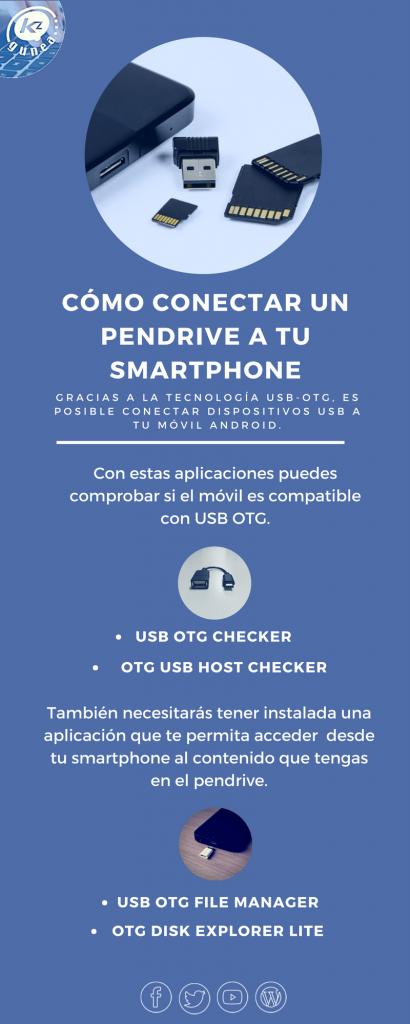 Cómo conectar un pendrive a tu smartphone