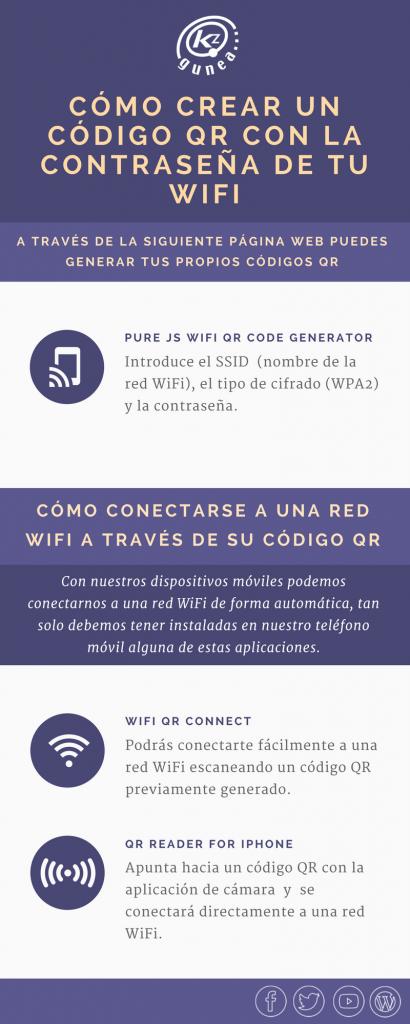 Cómo crear un código QR con la contraseña de tu wifi