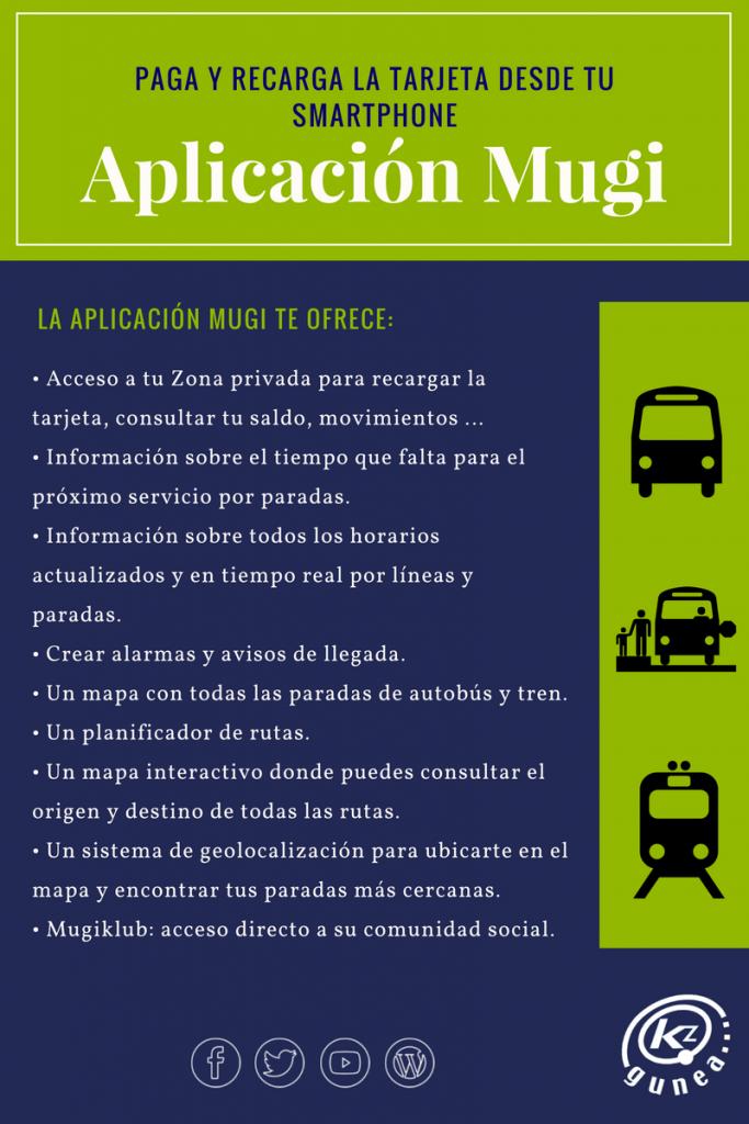 Aplicación Mugi. Paga y recarga la tarjeta desde tu smartphone