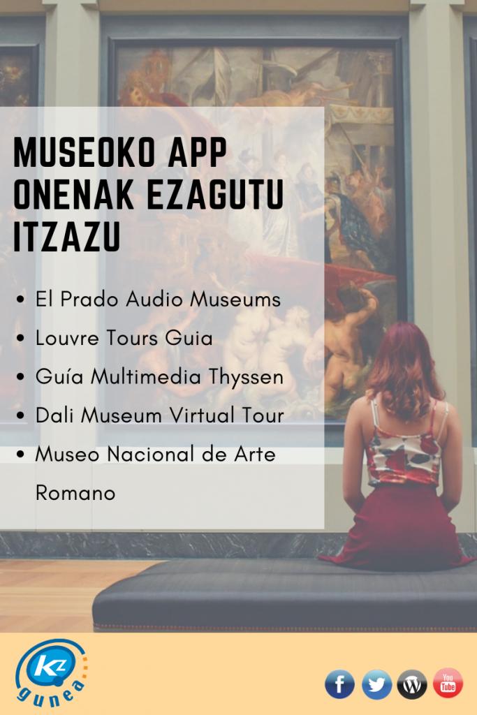 Museoko app onenak