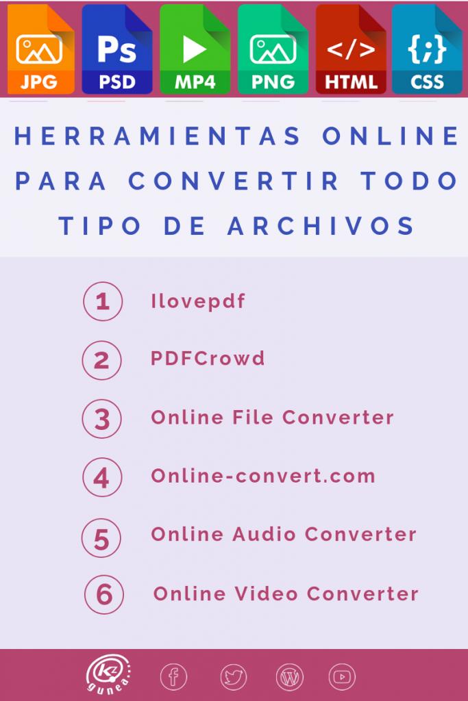 6 herramientas online para convertir todo tipo de archivos