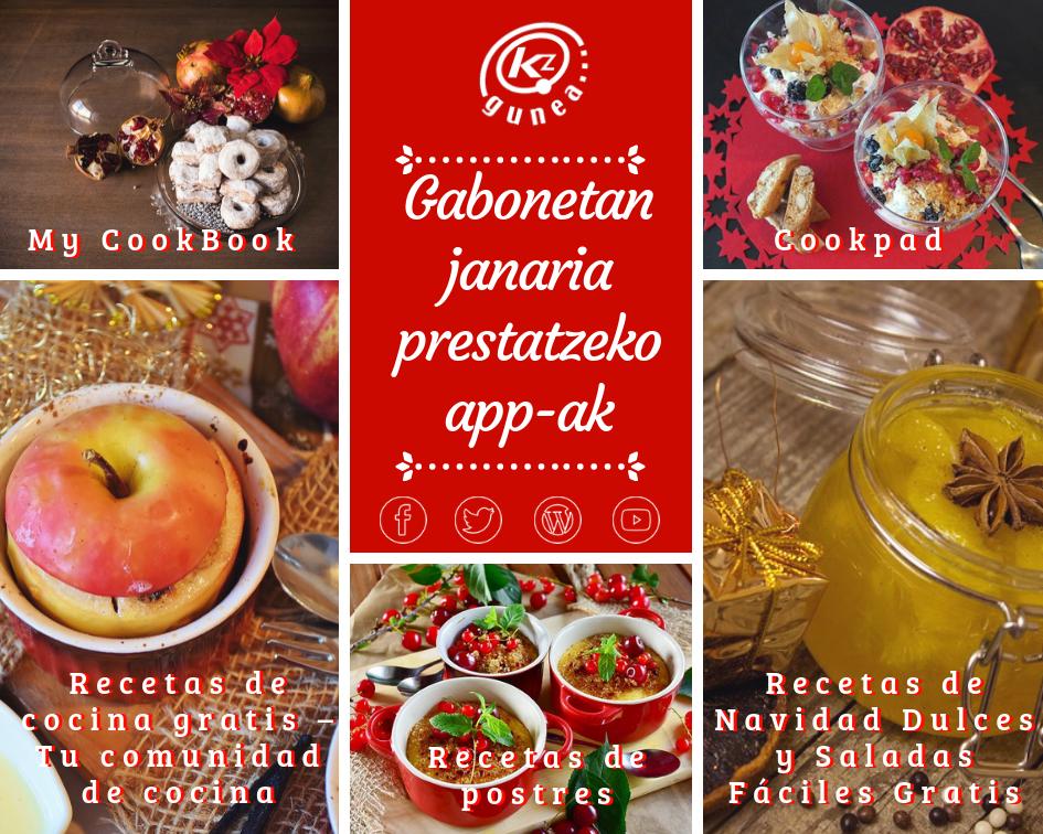 Gabonetan janaria prestatzeko app-ak