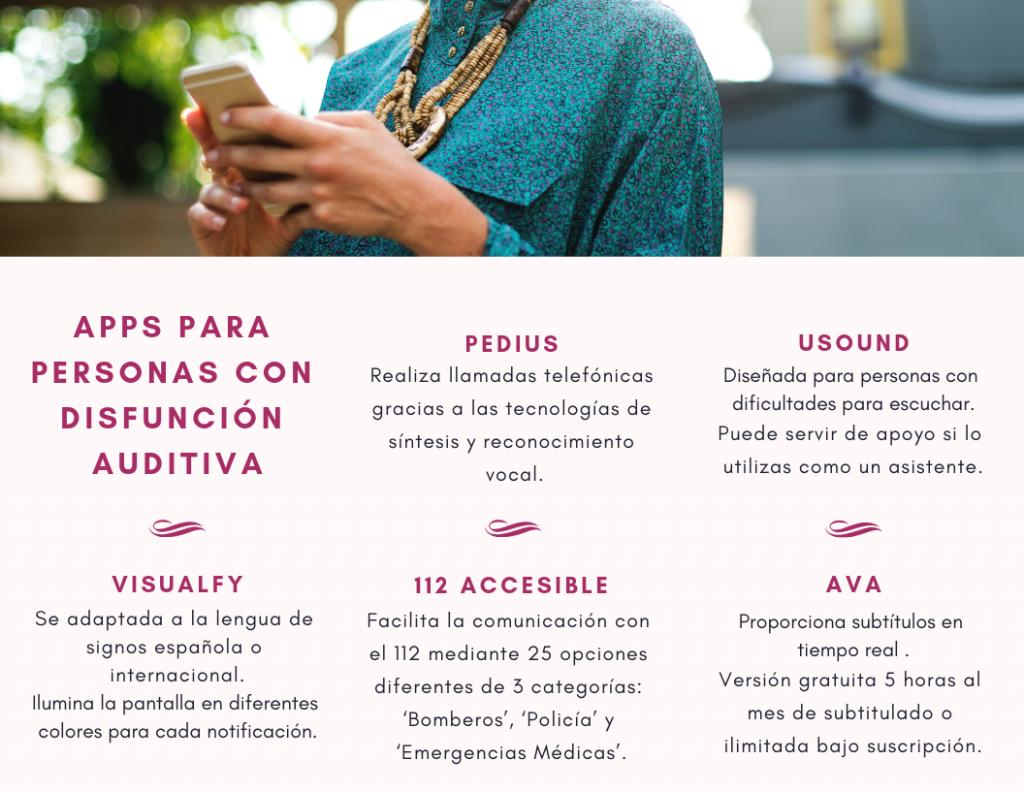 Apps para personas con disfunción auditiva
