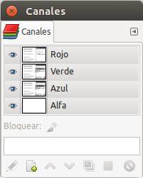 Diálogo empotrable de Canalas. Disponible en Ventanas > Diálogos empotrables > Canales