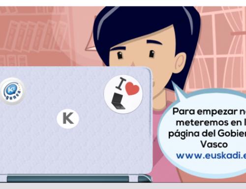 Kontxi realiza la declaración de la renta por Internet