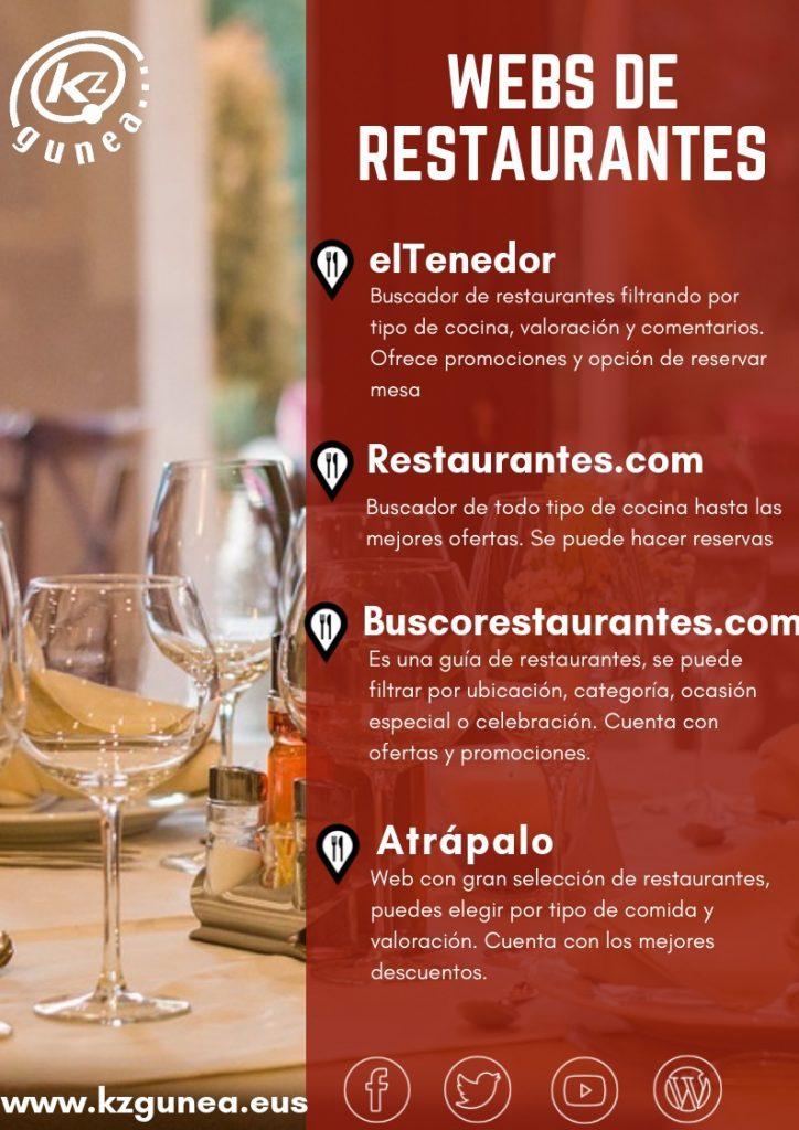 Webs de restaurantes