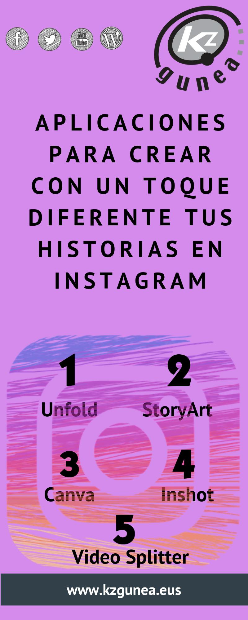 Aplicaciones para crear con un toque diferente tus historias de Instagram