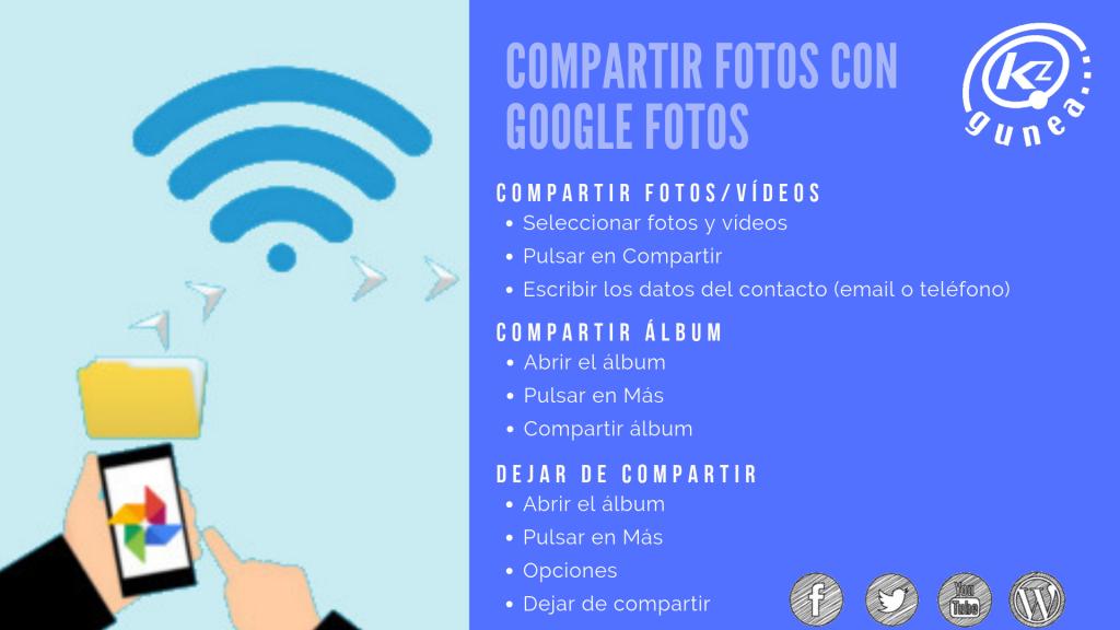 Compartir fotos con Google Fotos