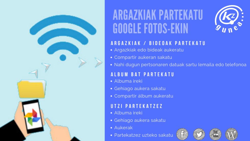 Argazkiak partekatu Google Fotos-ekin