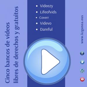 Cinco bancos de vídeos libres de derechos y gratuitos