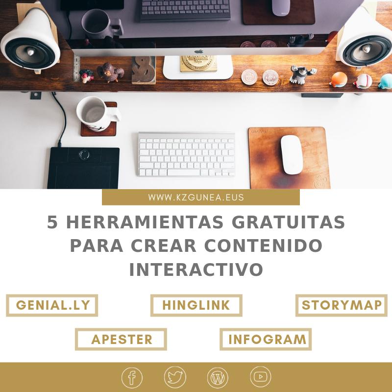 5 herramientas gratuitas para crear contenido interactivo