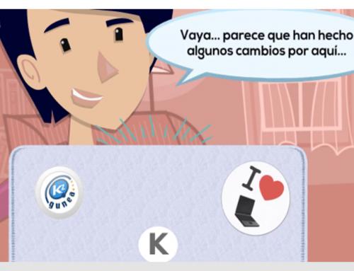 Kontxi descubre la nueva plataforma de aprendizaje