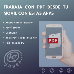 Trabaja con PDF desde tu móvil con estas apps