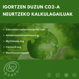 Igortzen duzun CO2-a neurtzeko kalkulagailuak