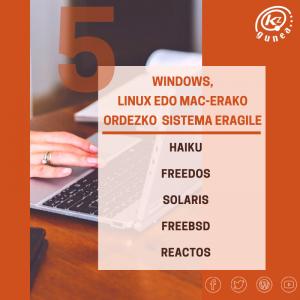 Windows, Linux edo Mac-erako ordezko 5 sistema eragile