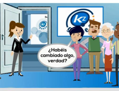 Kontxi descubre la nueva web de KZgunea