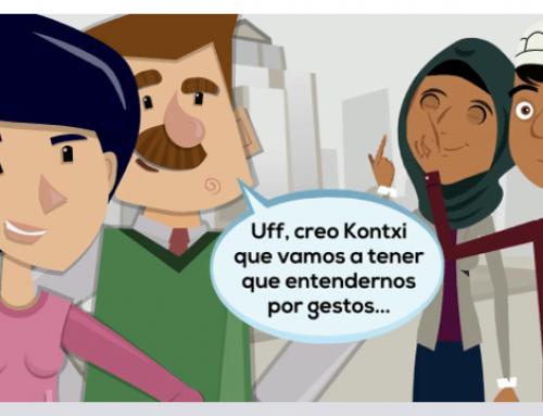 Kontxi usa el modo intérprete del asistente de Google