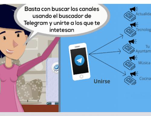 Kontxi descubre los canales de Telegram