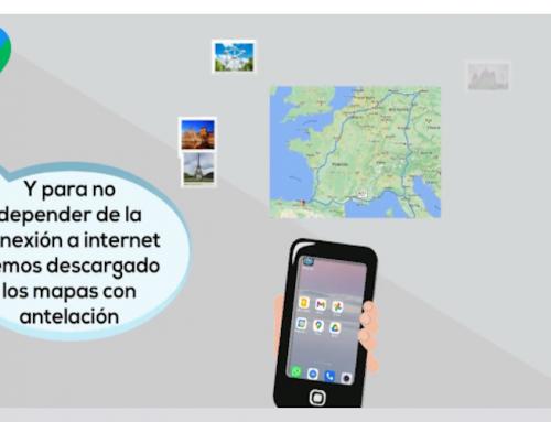 Kontxi usa las aplicaciones de Google
